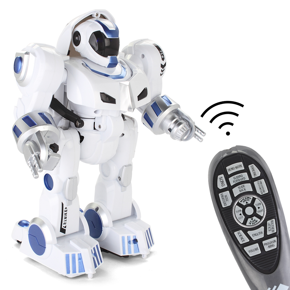 HUIQIBAO TOYS Deformation intelligent RC Robot with music Dance Electronic Smart control remote Toys for Children Birthday Gift