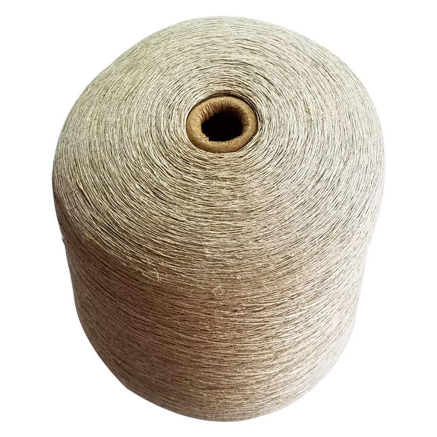 100% Natural linen yarn 1ply Diameter about 0.5mm weight about 1 kilogram/cone knitting yarn