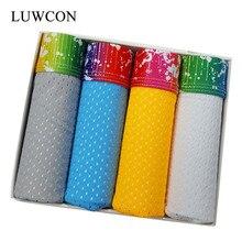 LUWCON Brand 4Pcs/lot Men's Underwear Briefs Breathable Modal Underpants Panties