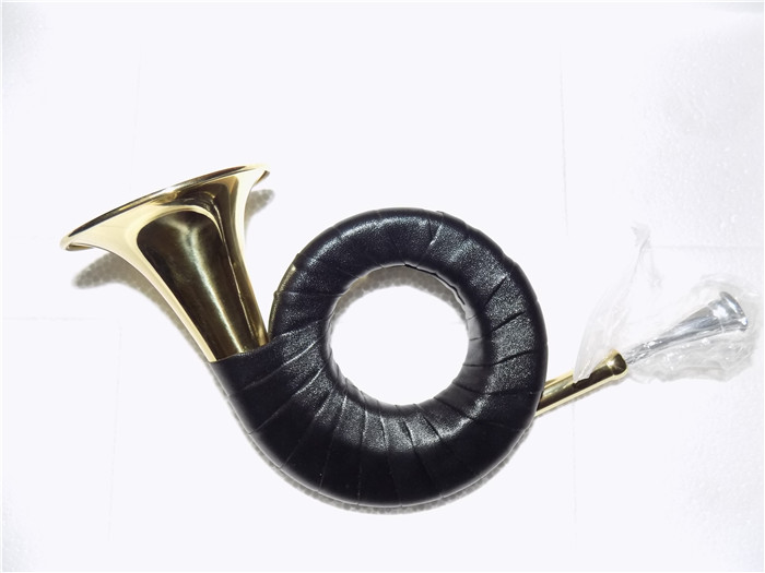 Bb Pocket Hunting Horn With Bag 77.5mm Bell Lacquer finish Musical instruments on sale