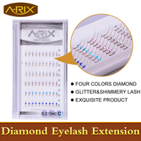 New High Imitation Swarovski Diamond Eyelash 0 20 C 13mm 1pc Glitter Shimmery Individual Eyelash Extension