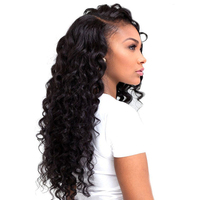 Queen Hair Products Loose Deep Wave Malaysian Remy Human Hair Weave More Wave 1Piece Only 10