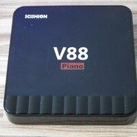 V88 Piano Smart Android TV Box RK3328 Quad Core HDMI 2 0 4 USB Mini Tv