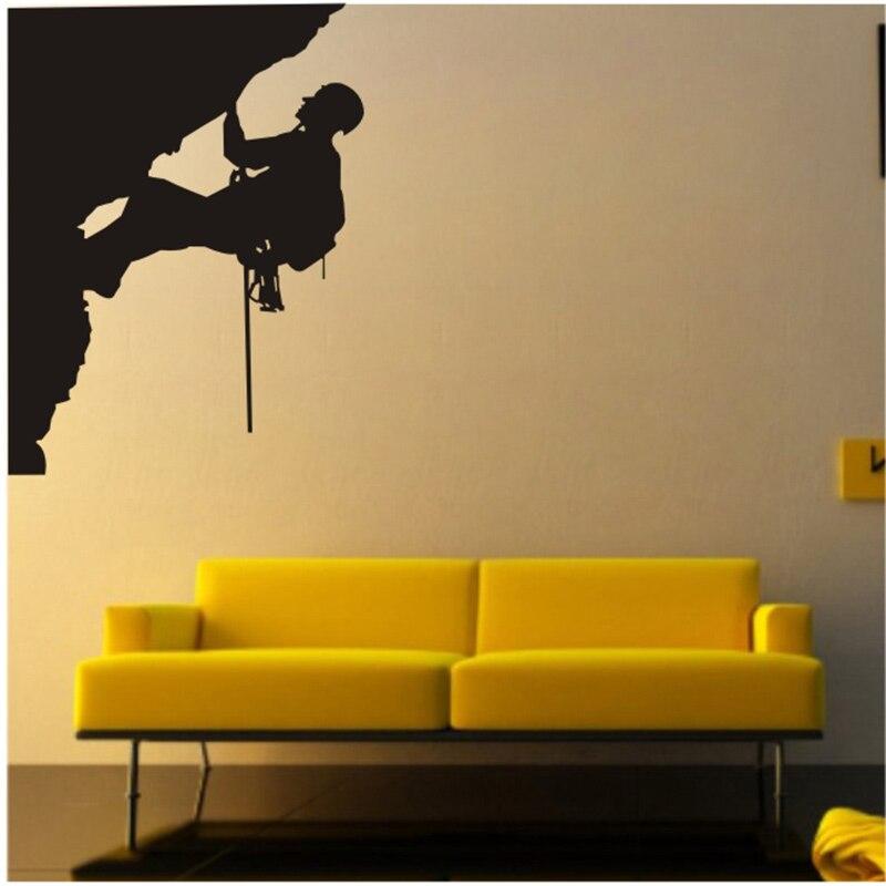New Rock Climbing Sport Cool Creative Silhouette WALL ART Sticker ...