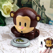 Monkey Care Blow Nail Art  Polish  Tips Varnish Finger Women Air Dryer Hand Manicure Lady