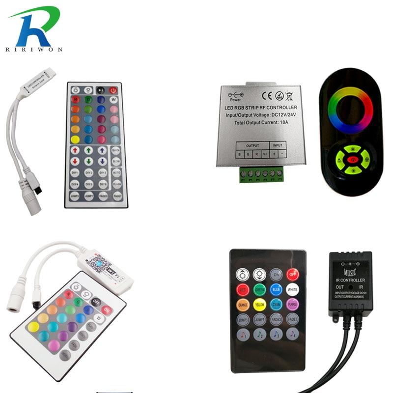 RiRi won SMD RGB LED Remote Controller switch wireless led controller DC 12V For RGB LED Strip Lighting 3528 5050 lamps dc5v usb rgb led controller 17key 12a rf wireless mini remote controller for rgb 3528 5050 smd led strip tape lighting 5 24v