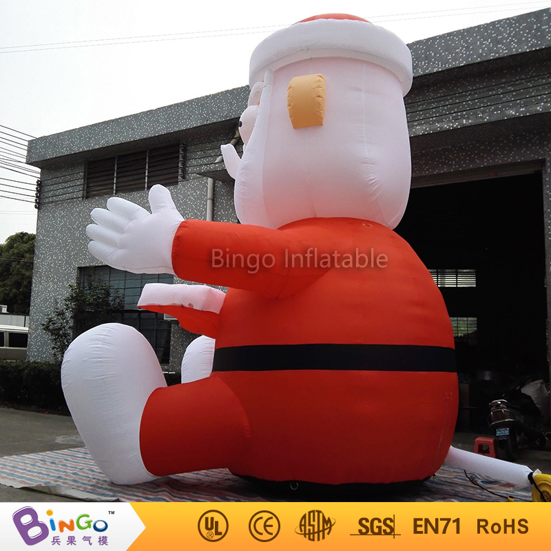 big 16Ft.high inflatable Christmas Santa Claus cartoon for party decoration festival BG-A0344-21 toy 5m high big inflatable christmas santa claus climbing wall decoration 16ft high china factory direct sale festival toy