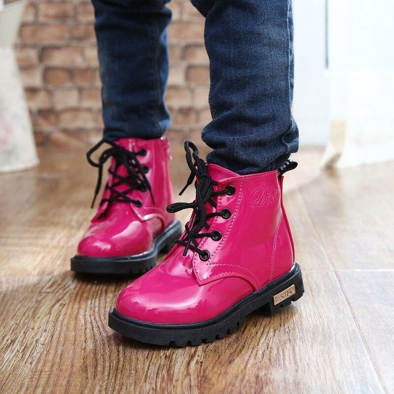 Children boots autumn winter waterproof Martin boots 2017 children shoes boys & girls boots kids shoes 1 - 12 years old CSH043
