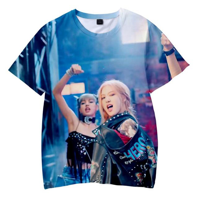 Hermosas camisetas 3D de Blackpink, para mujer