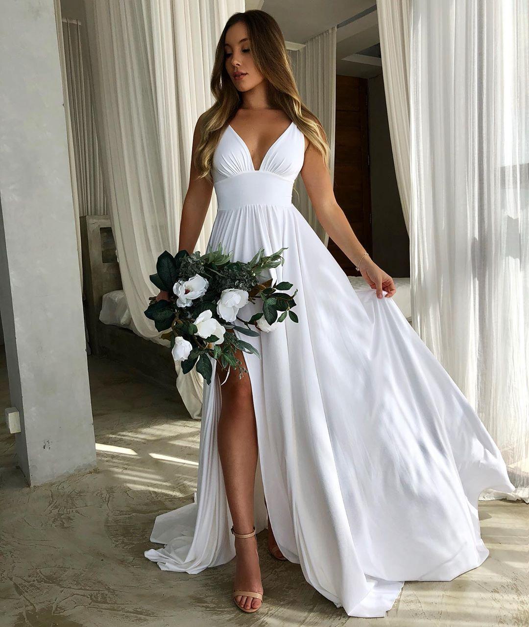 Bohemian Summer Beach Wedding Dress A Line Sexy Spaghetti Straps V Neck Plus Size Simple Women Bridal Gowns Wedding Dresses Aliexpress,Formal Dresses For Wedding Guest Plus Size