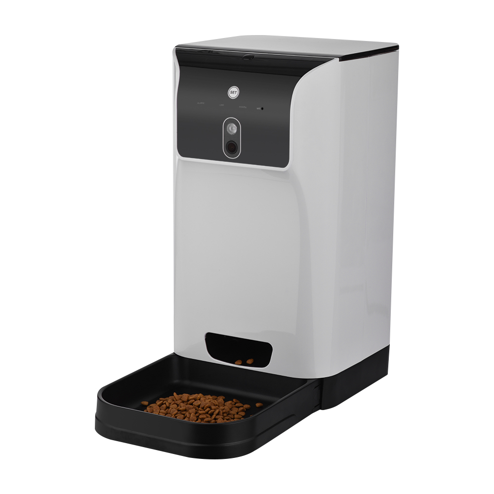 APP Automatic Pet Feeder Cat Dog Food Dispenser 6L Pet Feeder with Camera Voice Recorder Wifi