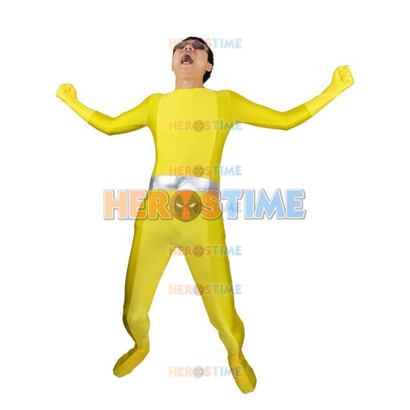 High quality mens womens totally spies cosplay costumes alex yellow superhero male female stage - Deguisement totally spies adulte ...