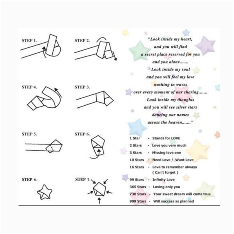 90pcs Candy Color Star Note Lucky Star Origami Diy Fun Folding Paper