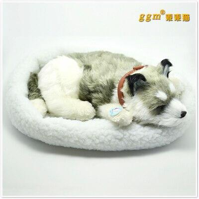 about 30x19cm  gray prone husky dog Handmade model,polyethylene& furs breathing dog ,home decoration toy Xmas gift w4024about 30x19cm  gray prone husky dog Handmade model,polyethylene& furs breathing dog ,home decoration toy Xmas gift w4024