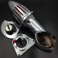 For 1995&up Kawasaki Vulcan 800 VN800 classic Motorcycle Air Cleaner Kit Intake Filter Chrome 1995 1996 1997 1998 1999