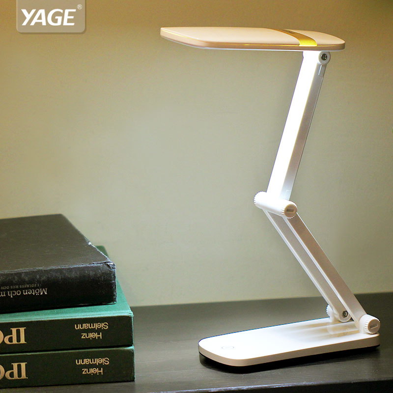 YAGE 5929 LED Table Lamp USB Night Light 2.4W Foldable DC 5V/400-500mA Touch Switch Desk Lamp Non-limit Dimming Desk Light цена