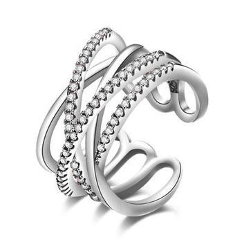 Μοντέρνο δαχτυλίδι με ζιρκόν σε χρυσό ή ασήμι Δαχτυλίδια Κοσμήματα Αξεσουάρ MSOW