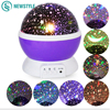 New Prejection Lamp Night Light Rotating Star Moon Sky DC 5V Colorful Light High Quality Kids