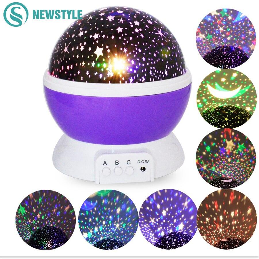 Sterne Sternenhimmel Led Nachtlicht Projektor Mond Tisch Nacht Lampe Batterie USB Neuheit Fr Kinder