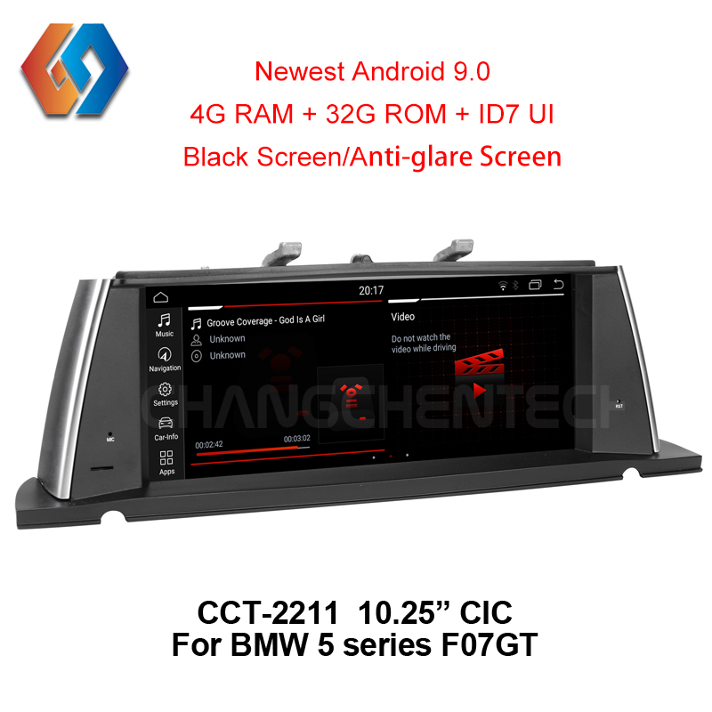For BMW 5 Series F07 GT(2011 2012) CIC Touch Screen Car Radio Android 9.0 Multimedia GPS Navigation Stereo Bluetooth Unit 11-in Car Multimedia Player from Automobiles & Motorcycles    1