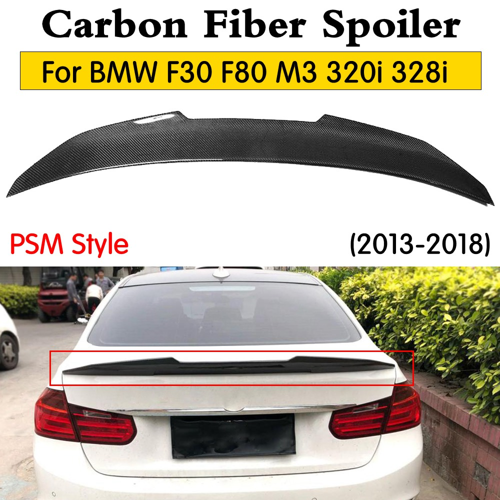 F80 M3 PSM Style Carbon Fiber Rear Spoiler Boot Lip For BMW F30 3 Series 320i 318d 316d 328i 330i 335i rear wing lip 2013-2018F80 M3 PSM Style Carbon Fiber Rear Spoiler Boot Lip For BMW F30 3 Series 320i 318d 316d 328i 330i 335i rear wing lip 2013-2018