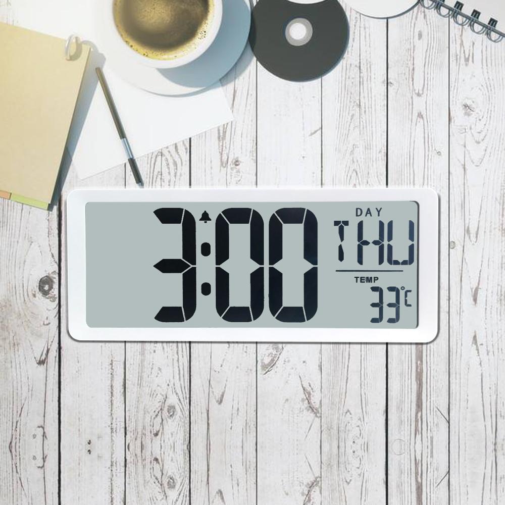 TXL Extra Large Vision Digital Wall Clock Jumbo Alarm Clock 13 8 LCD Display Alarm Calendar