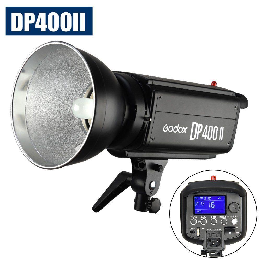 Tête de lampe Flash stroboscopique Godox DP400II 400 W 2.4G Studio