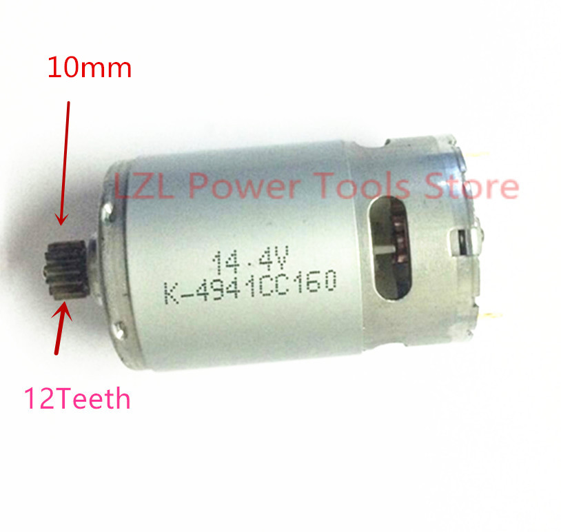 Replace 12 Teeth  DC Motor 14.4V For  BOSCH GSR14.4V PSR 14,4 LI-2 Cordless Drill Driver  Batt-Oper Screwdriver