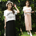 Maternity Dress Summer Pregnant Women Dresses For Breastfeeding Elegant Clothing Maternity Modal Cotton Fake Two-piece Out Wear