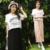 Vestido de maternidade As Mulheres Grávidas Vestidos de Verão Para A Amamentação Elegante Roupa de Maternidade Modal de Algodão Falsos Two-piece Para Fora O Desgaste