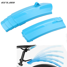 2pcs LED Quick Release Folding Bicycle Fender Foldable Bike Mudguard with LED Taillight Cycling MTB road Bike Mud Guard 166g New