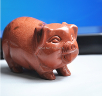 Best Gift Chinese 100% Natural Golden Sand Stone Statue / Pig Statues