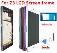 Dla SONY Xperia Z3 oryginalny ekran 1920x1080 5.2 ''LCD do Sony Z3 wyświetlacz ekran dotykowy z ramką d6603 D6633 D6653 L55T narzędzia