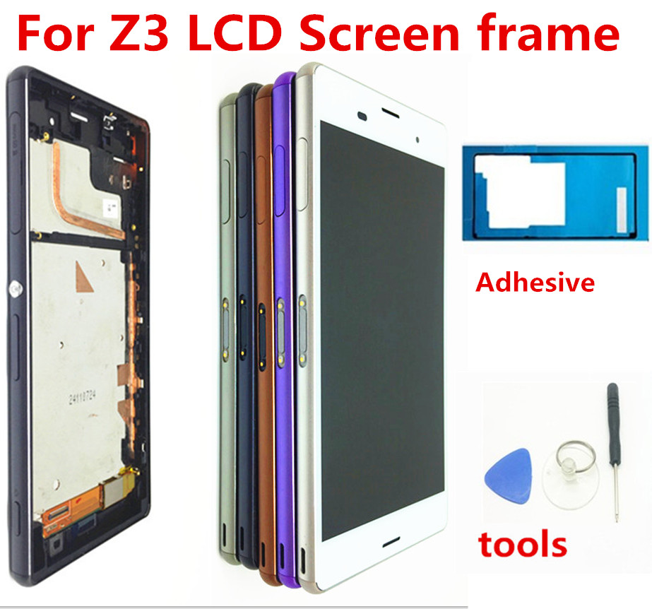 For SONY Xperia Z3 Screen Original 1920x1080 5.2'' LCD For Sony Z3 Display Touch Screen With Frame D6603 D6633 D6653 L55T Tools