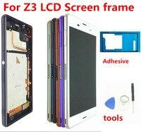 Para sony xperia z3 tela original 1920x1080 5.2 lcd lcd lcd para sony z3 display tela de toque com quadro d6633 d6653 l55t ferramentas