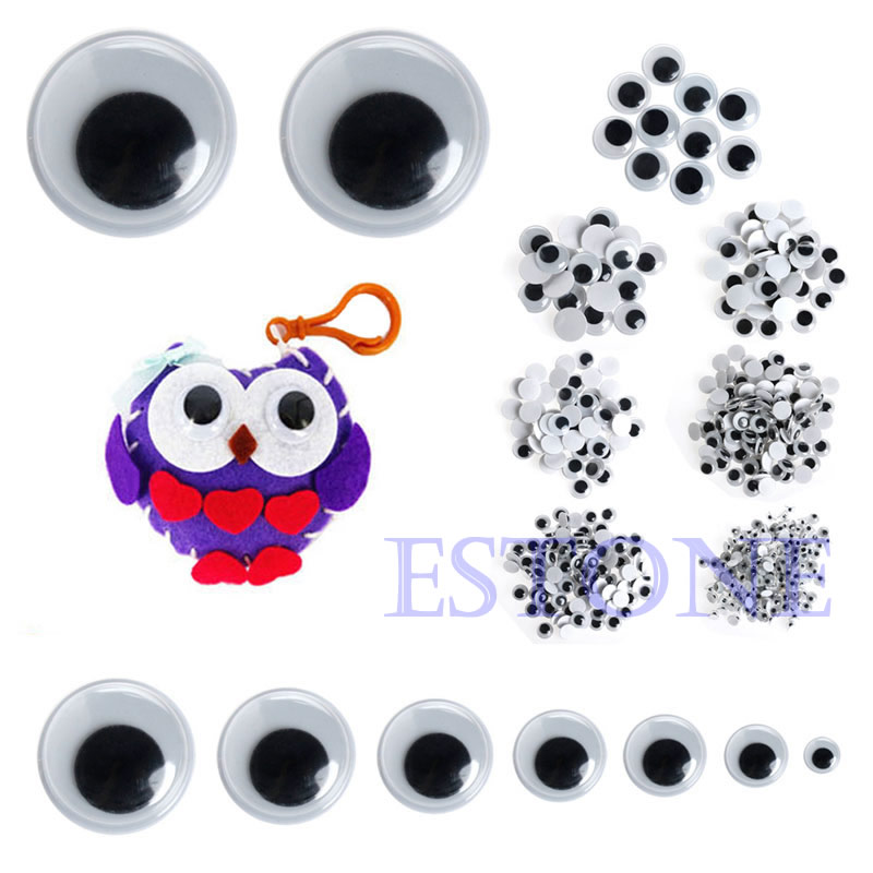 520PCS/set Self-adhesive Mixed 6mm /8mm /10mm /12mm/ 14mm/20mm Dolls Eye For Toys Dolls Googly Eyes Used For Doll Accessories