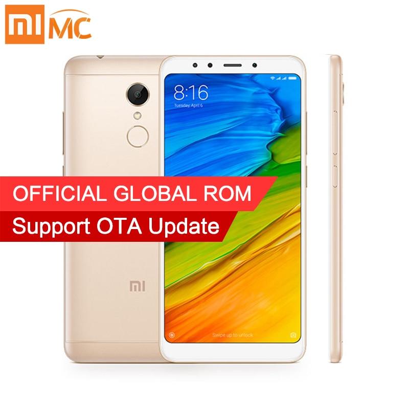 2017 Original Xiaomi Redmi 5 3 GB 32 GB 18:9 Pantalla Completa teléfonos móviles Snapdragon 450 Octa Core 5,7