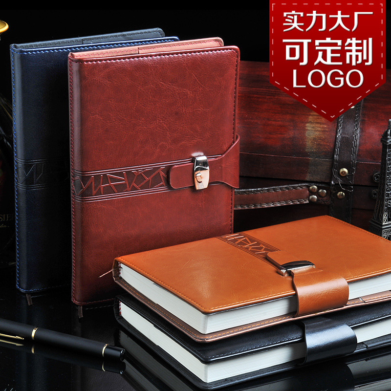 185 grade business notebook creative buckle leather Notepad  wholesale custom LOGO A5/A6/B5 1 pcs calendar 2017 a5 calendar handbook of efficiency for industry and commerce business notepad log can be customized logo