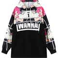 Womens hoodies 2016 nueva harajuku sudadera de gran tamaño mujer plus tamaño sudadera con capucha jersey de moda de señora punk girls casual de lana superior