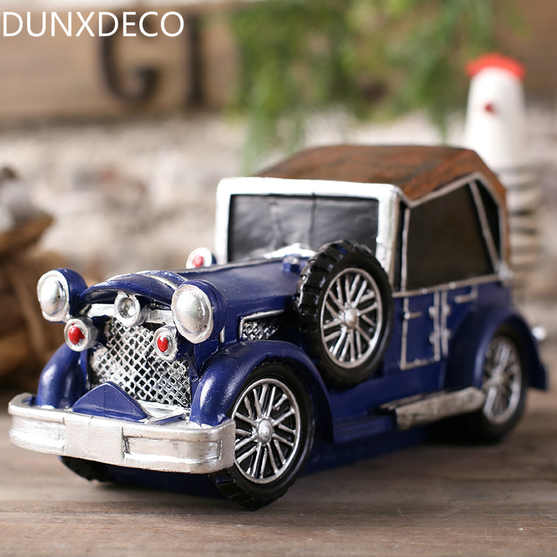 DUNXDECO Vintage Home Decoration Accessories Miniature Resin Craft ...