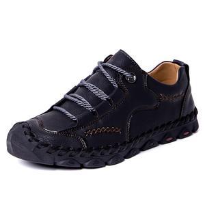 Image 2 - Mynde 2019 yeni moda stil deri bahar rahat ayakkabılar erkekler el yapımı Vintage loaferlar daireler sıcak satış Moccasins büyük boy 38 48