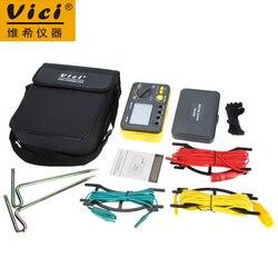 Vici VC4105A cyfrowy Tester rezystancji uziemienia omomierz woltomierza 2K 200V w/podświetlenie LCD