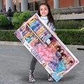 Barbie boneca definir caixa de presente grande fantasia cômoda vestir boneca princesa caixa de presente de casamento brinquedo das crianças da menina