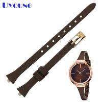 Waterproof silicone watch Strap 10*3mm rubber watchband belt For womens suitable for K4U236K6 K4U231B1 K4U231VX K4U231YM