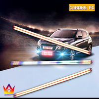 Car Strobe Light Automotive Explosive Car Front Grille Deck Strobe Flash strip Lamp for subaru forester Impreza legacy outback