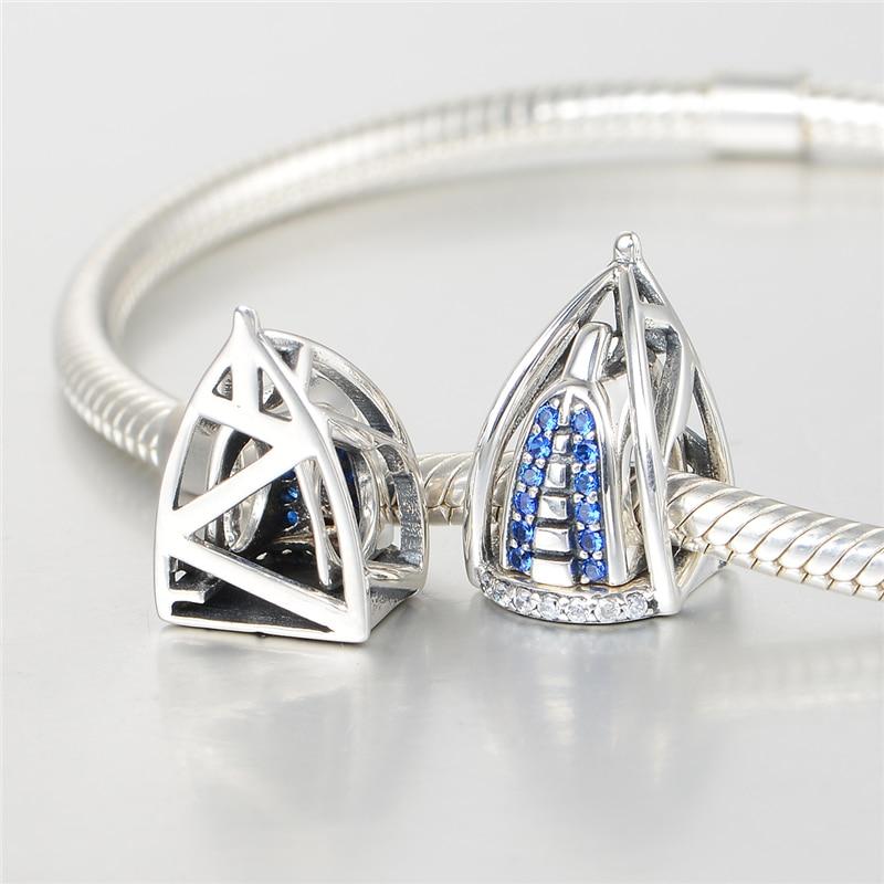 925 srebrni srebrni nakit Dubai Burj Al Arab 3D šarm sa plavim - Modni nakit - Foto 6