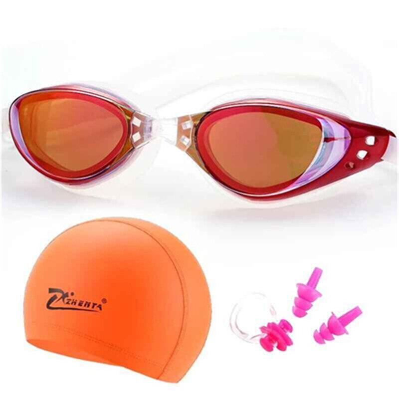 71f4613f2 Gafas de natación de miopía profesional de silicona impermeable ...