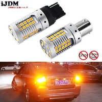 IJDM Car 7440 LED No Hyper Flash ámbar 48-SMD 3030 LED T20 W21W 1156 7507 BAU15S bombillas LED para luces de señal de giro, Canbus