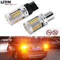 IJDM автомобильный 7440 светодиодный без гипервспышки Янтарный Желтый 48-SMD 3030 светодиодный T20 W21W 1156 7507 BAU15S светодиодный лампы для указателей пов...