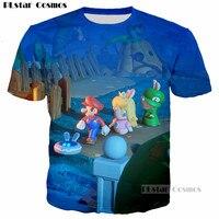 PLstar Cosmos 2017 Summer Fashion 3D T Shirt Classic Cartoon Game Super Mario Bros Print Cute